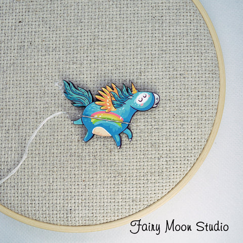Rainbow Unicorn Needle Minder