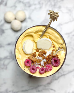 Coconut Mango Mochi Smoothie Bowl
