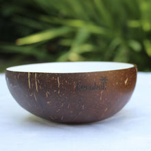 White Lacquer Coconut Bowl