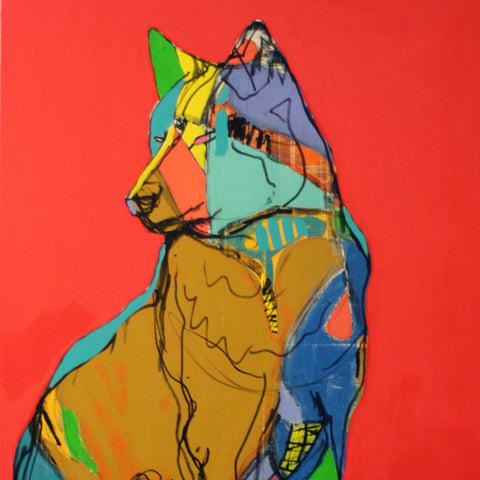 Red Wolf - Tableau de Mimi Gravel