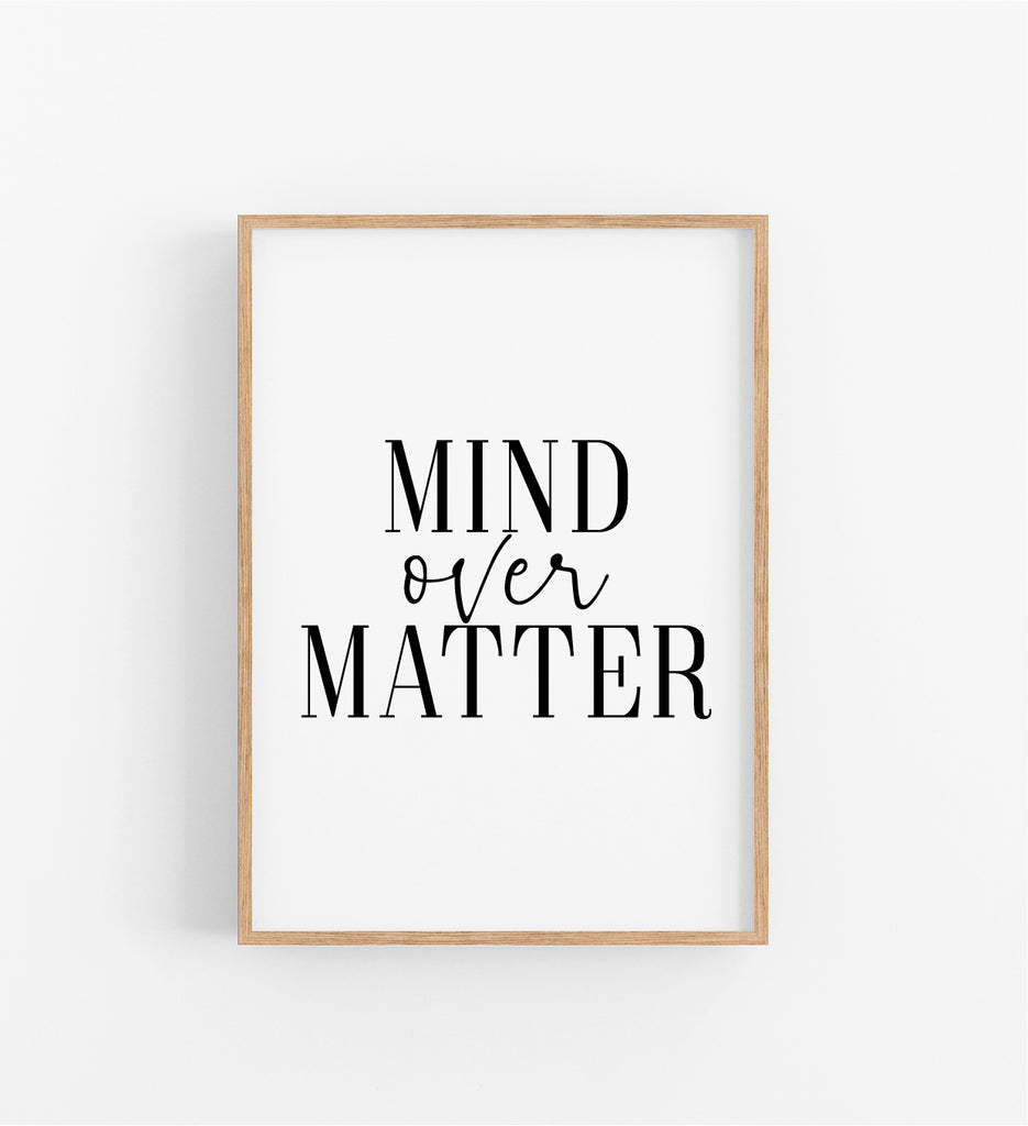 MIND OVER MATTER - WHITE
