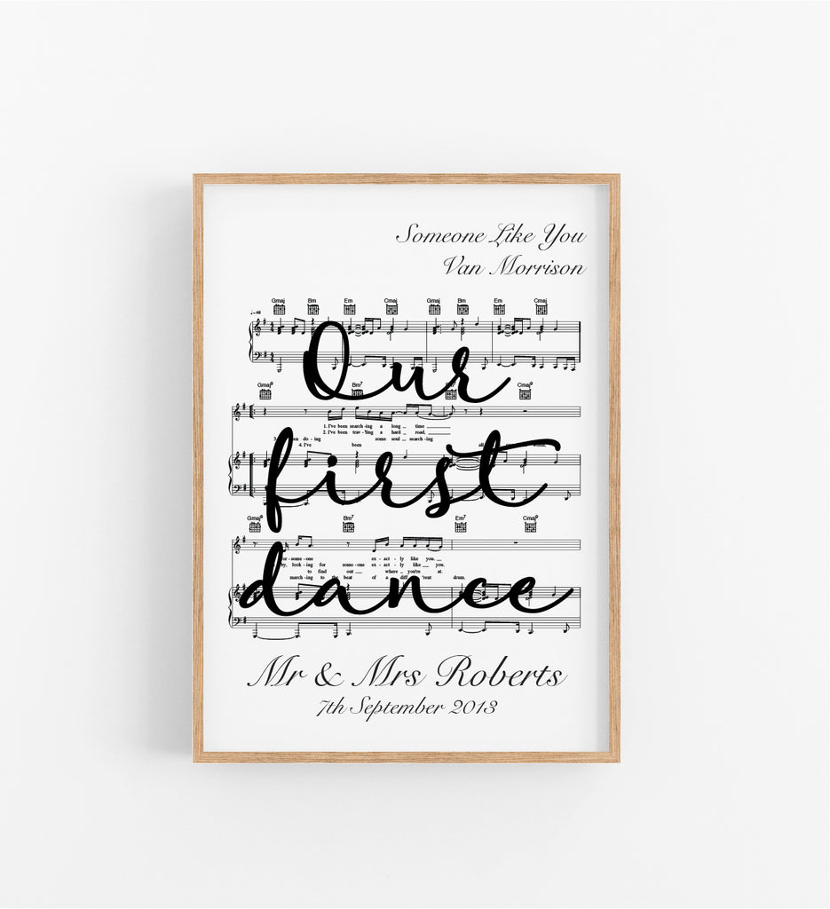OUR FIRST DANCE - MUSIC SHEET