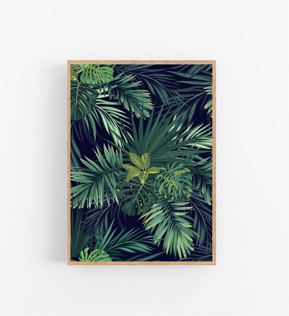 TROPICAL TREE LEAVES