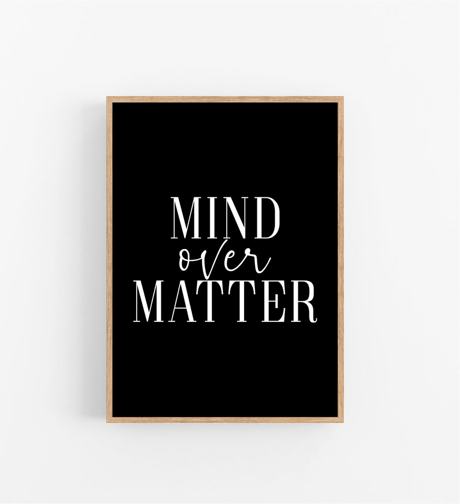 MIND OVER MATTER - BLACK