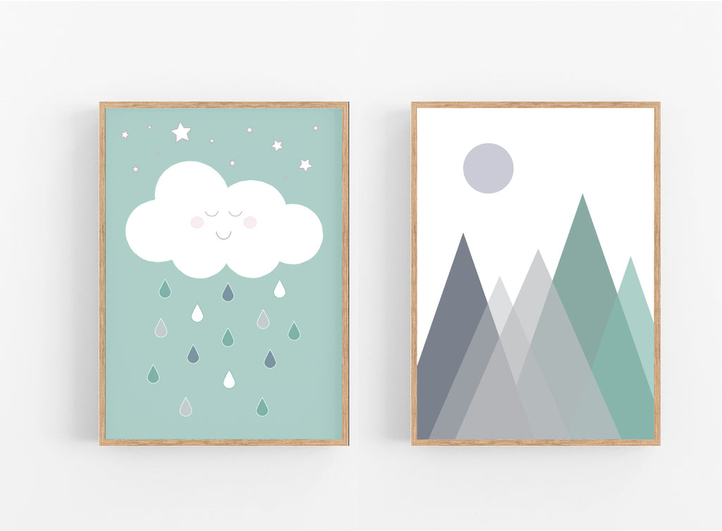 MOUNTAIN AND CLOUD SET