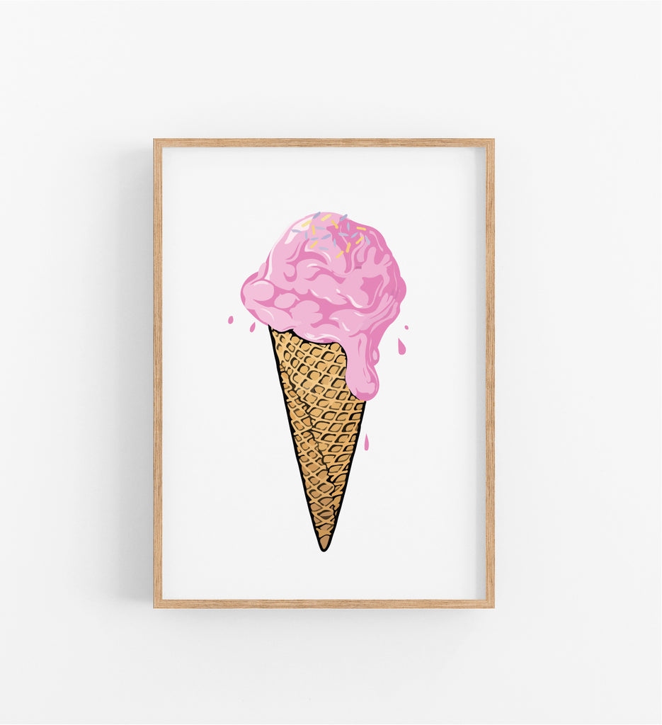 DRIPPING ICE CREAM CONE