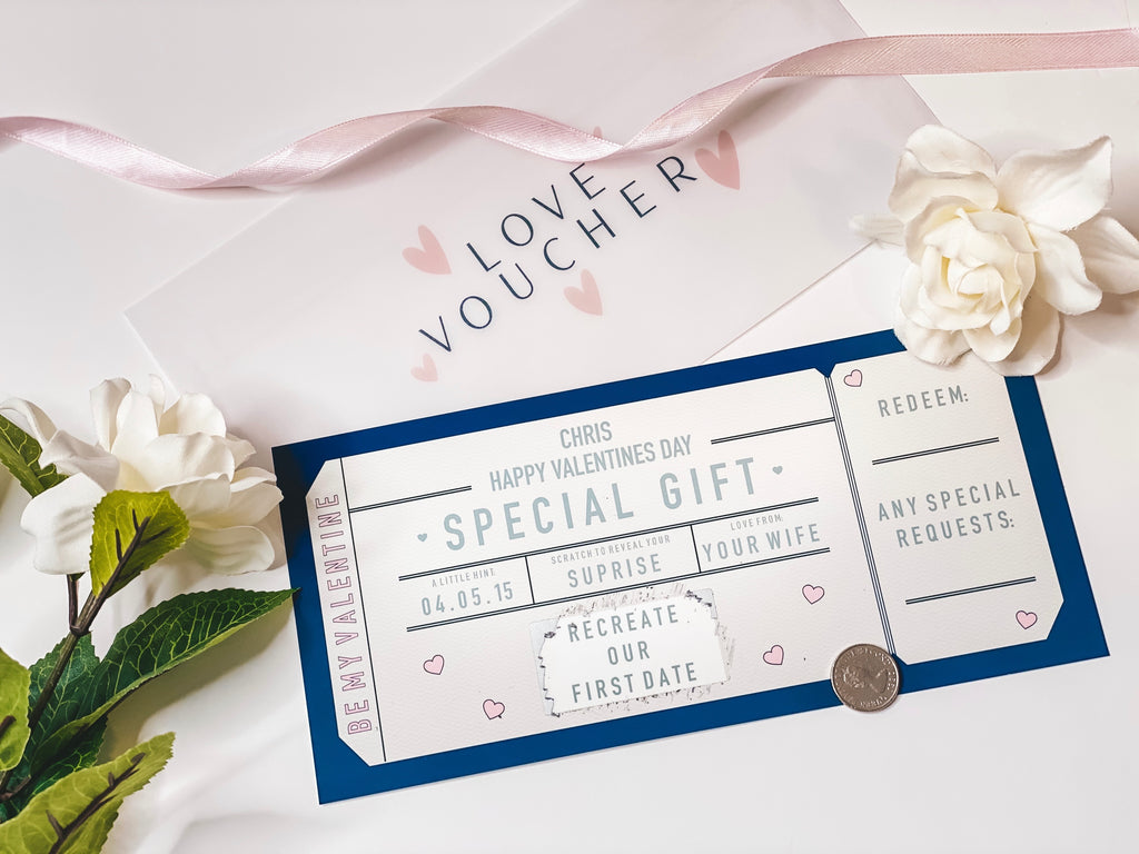 VALENTINES SCRATCH OFF VOUCHER
