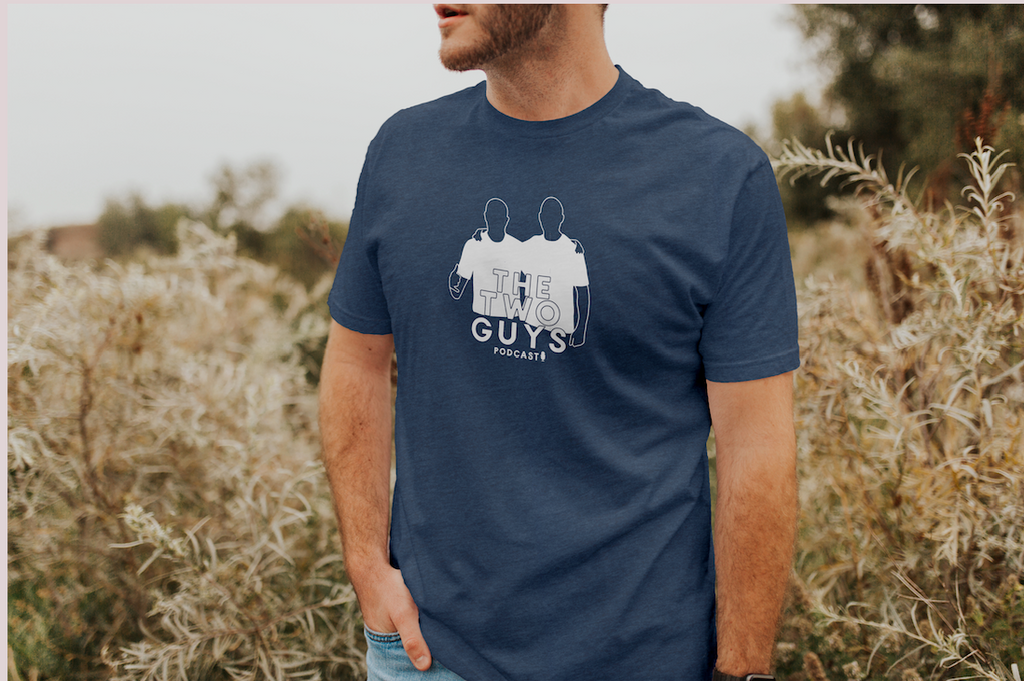 THE TWO GUYS PODCAST LOGO TEE