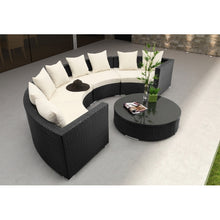 Patio Premium Furniture IL Giardino Half Moon Sectional Set by Modern Home Style