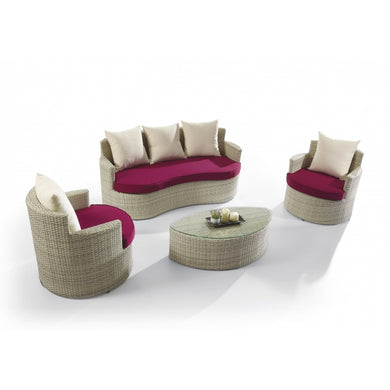 Patio Premium Furniture IL Giardino Oasis Conversation Set by Modern Home Style