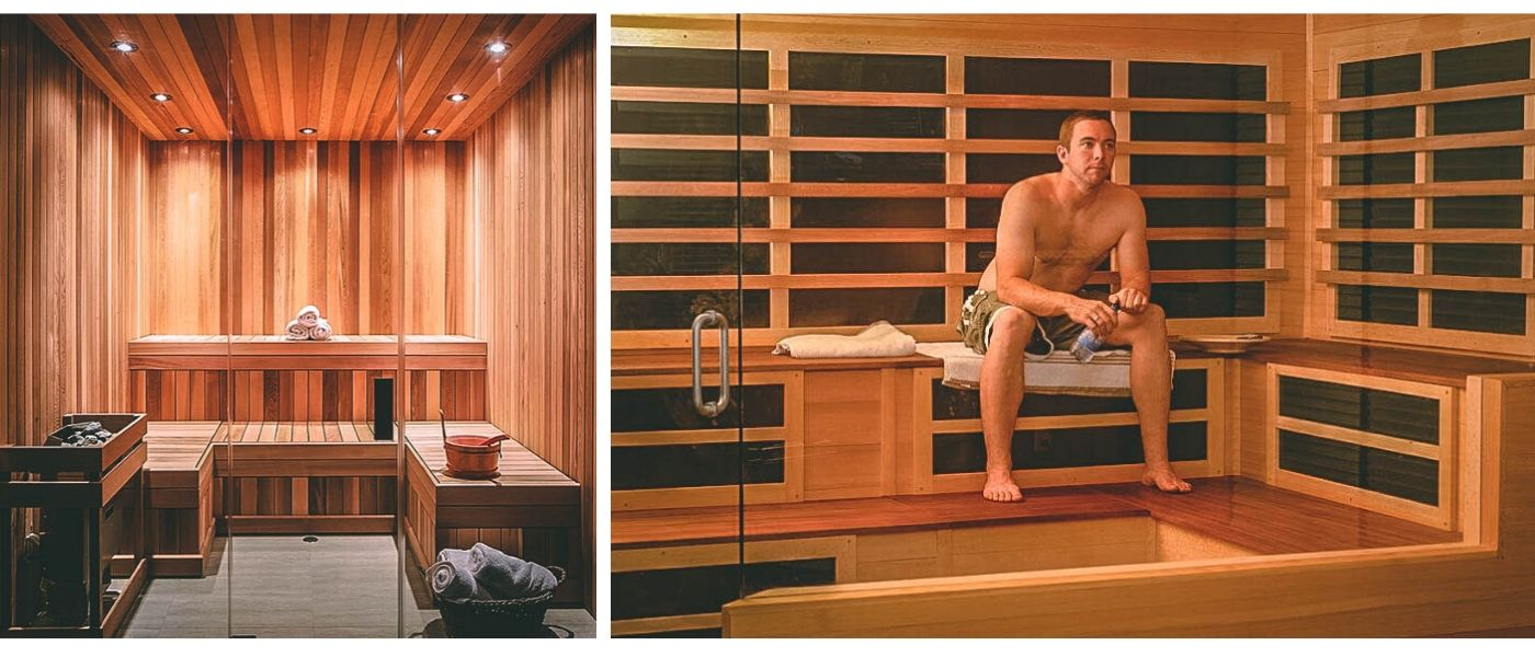 Custom built saunas