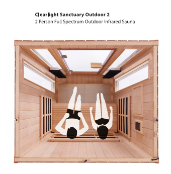 Clearlight Sanctuary Outdoor Infrared Sauna Seating Plans
