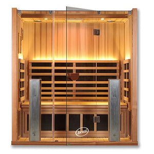 3 Person Saunas - Clearlight Sanctuary 3 Person Infrared Sauna With Medical Grade Chromotherapy
