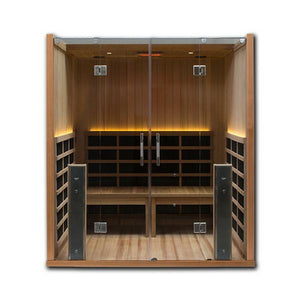 4 Person Saunas - Clearlight Sanctuary Retreat 4 Person ADA Compliant Infrared Sauna.