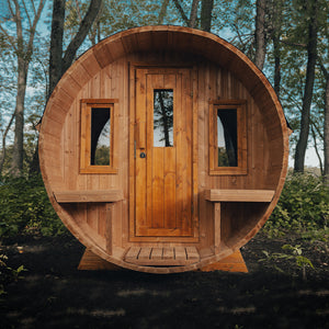 Scandinavian Outdoor Barrel Sauna (7x8)