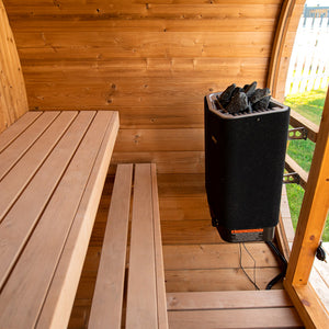 Scandinavian Horizon Outdoor Barrel Sauna (7x5)