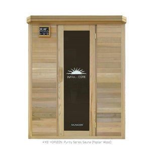 Infrared Saunas - Horizon Purity Serie (4x5) Infrared Sauna By Saunacore