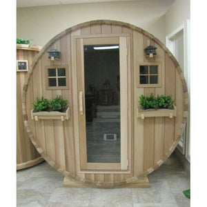 Outdoor Saunas - Traditional Outdoor Country Living Barrel Sauna By Saunacore