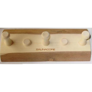 Saunas Accessories - Wooden Towel Hook - 3 Peg By Saunacore