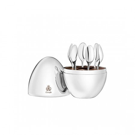 CHRISTOFLE MOOD ESPRESSO SPOONS/SET OF 6 ,SILVER PLATE