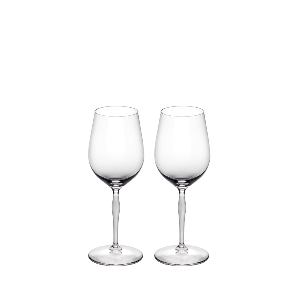 LALIQUE 100 POINTS UNIVERSAL WINE TASTING GLASS, SET OF 2