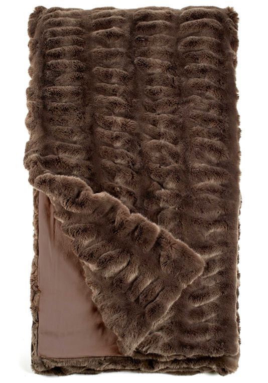 FABULOUS FURS COUTURE THROW, TAUPE MINK, 60*72