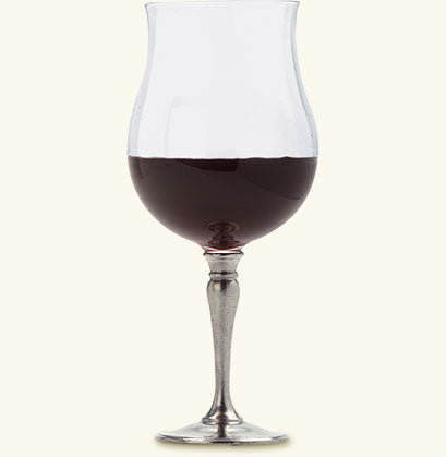 MATCH PEWTER TULIP RED WINE GLASS