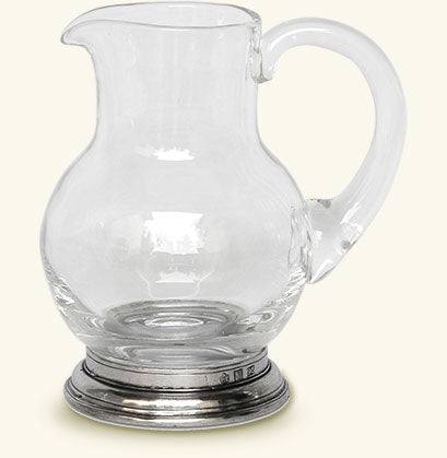 MATCH PEWTER GLASS PITCHER, 1/4 LITRE