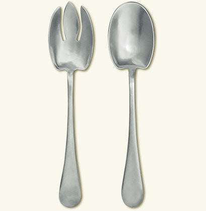 MATCH PEWTER ARIA SALAD SET