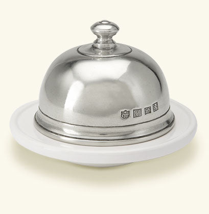MATCH PEWTER CONVIVIO SMALL ROUND BUTTER DOME