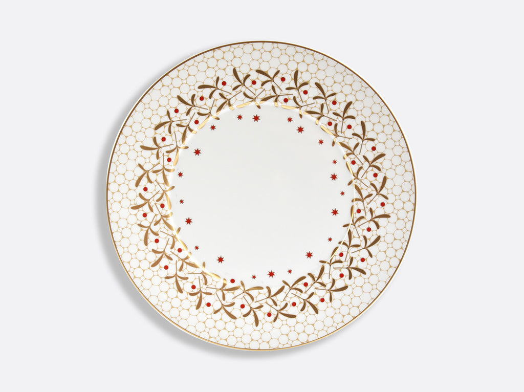 BERNARDAUD NOEL WHITE DINNER PLATE