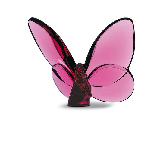 BACCARAT PAPILLION LUCKY BUTTERFLY ,PEONY PINK