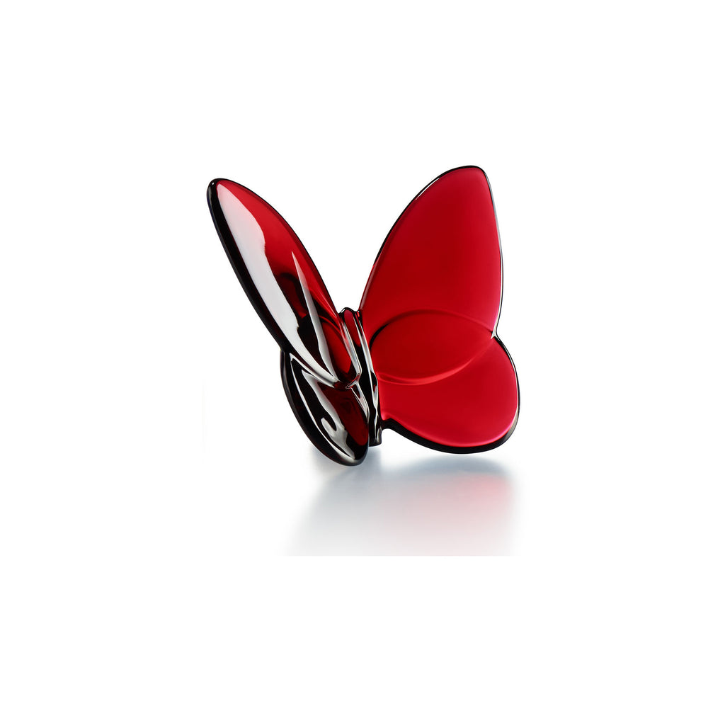 BACCARAT PAPILLION LUCKY BUTTERFLY, RED