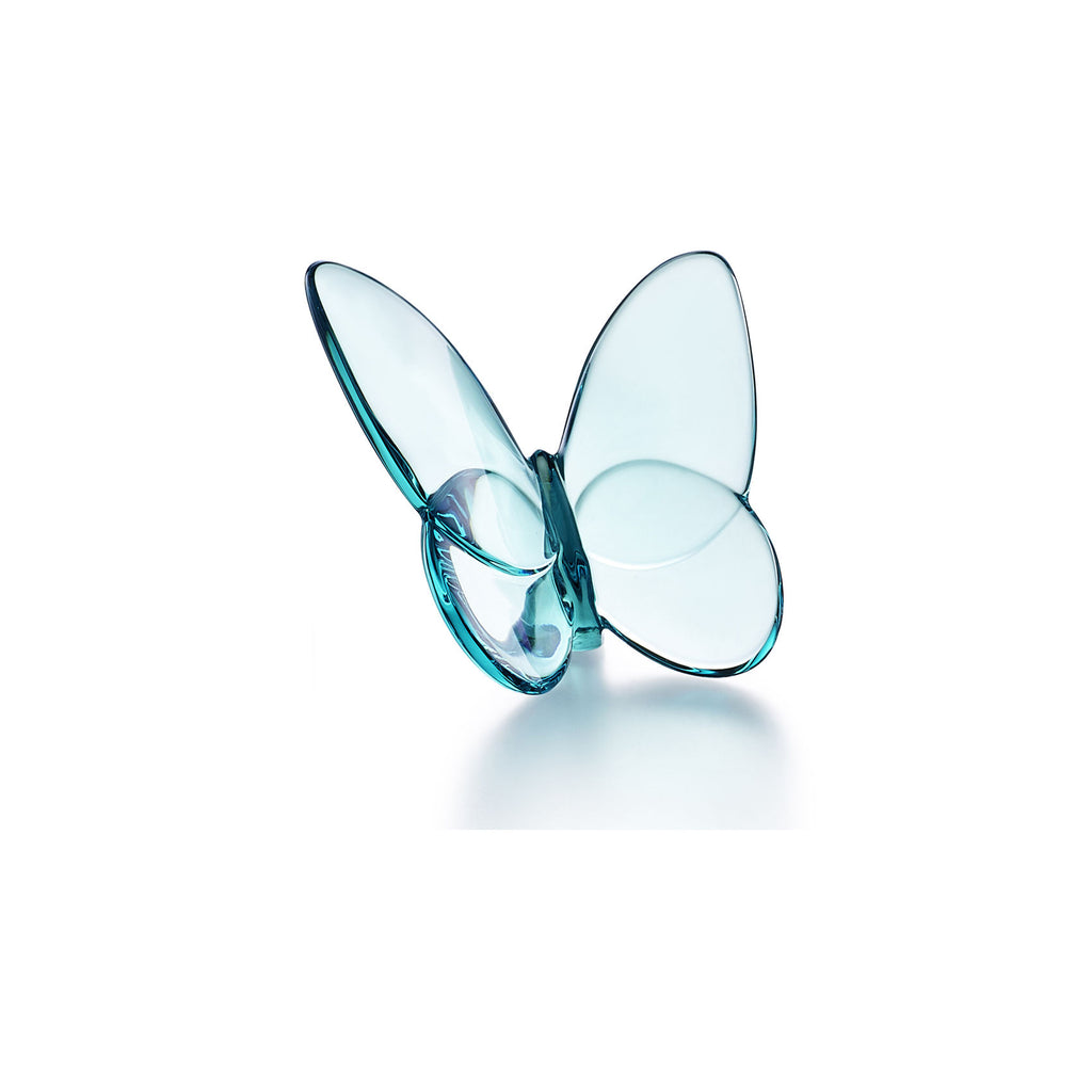 BACCARAT PAPILLION LUCKY BUTTERFLY, TURQUOISE