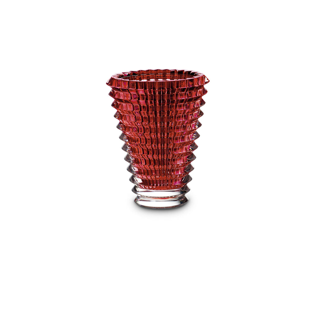 BACCARAT EYE SMALL RED VASE