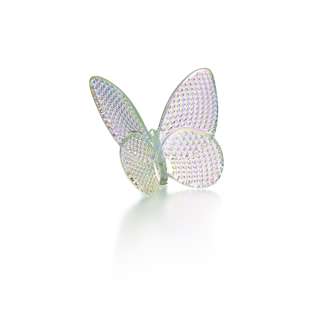 BACCARAT PAPILLION LUCKY BUTTERFLY, IRIDESCENT CLEAR