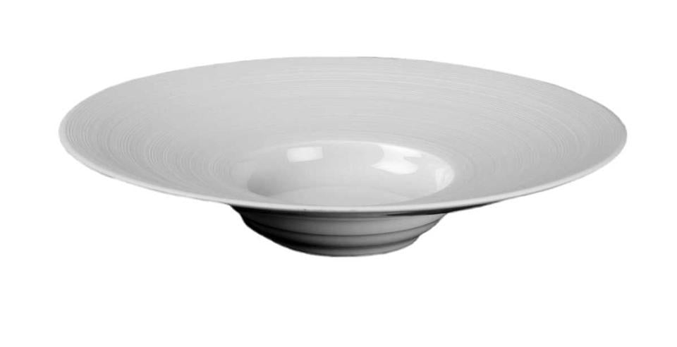 J.L. COQUET HEMISPHERE WHITE MEDIUM RIM SOUP