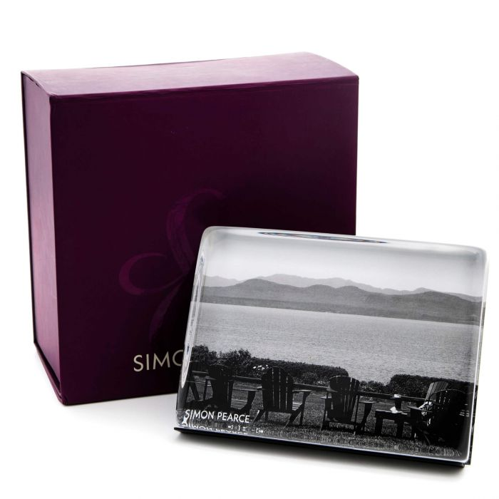 SIMON PEARCE 4*6 WOODBURY HORIZONTAL PHOTO BLOCK/BOX