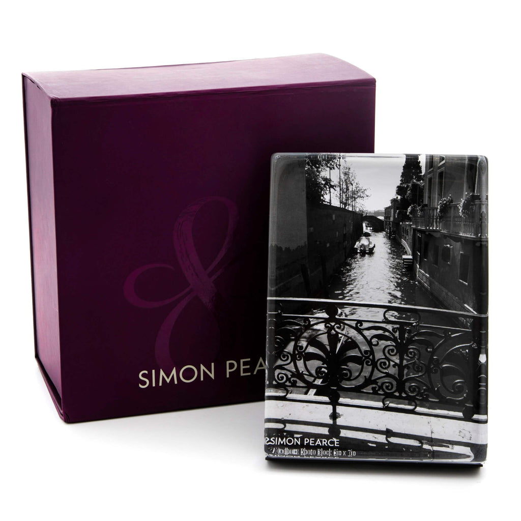 SIMON PEARCE WOODBURY 4*6 VERTICAL PHOTO BLOCK