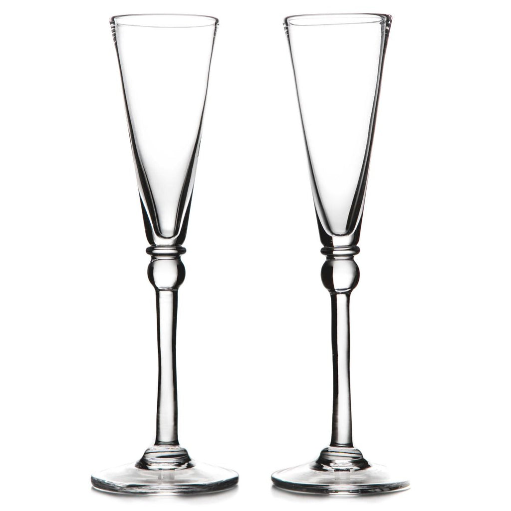 SIMON PEARCE HARTLAND CHAMPAGNE FLUTE, SET OF 2