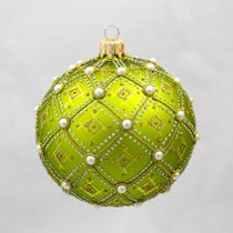 THOMAS GLENN LIME PEARL ORNAMENT