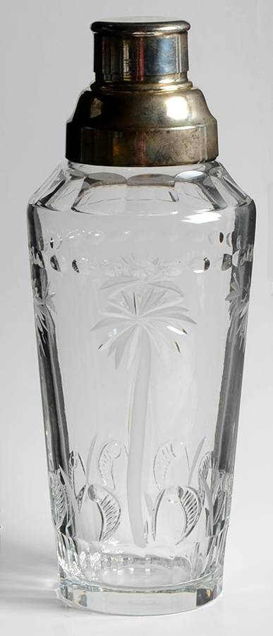 WILLIAM YEOWARD CRYSTAL ALEXIS CLEAR LARGE COCKTAIL SHAKER