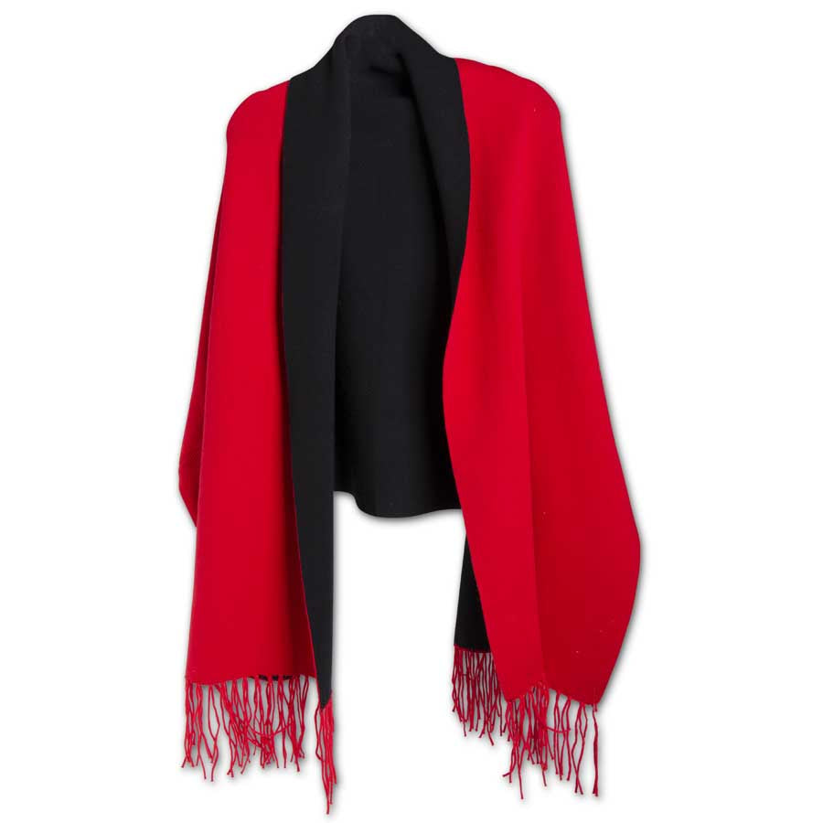 K & K INTERIORS RED/BLACK LINING WRAP W/SLEEVES