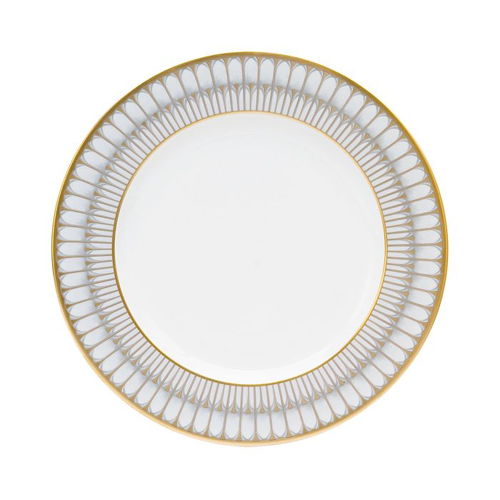 DESHOULIERES ARCADES GREY/GOLD DINNER PLATE
