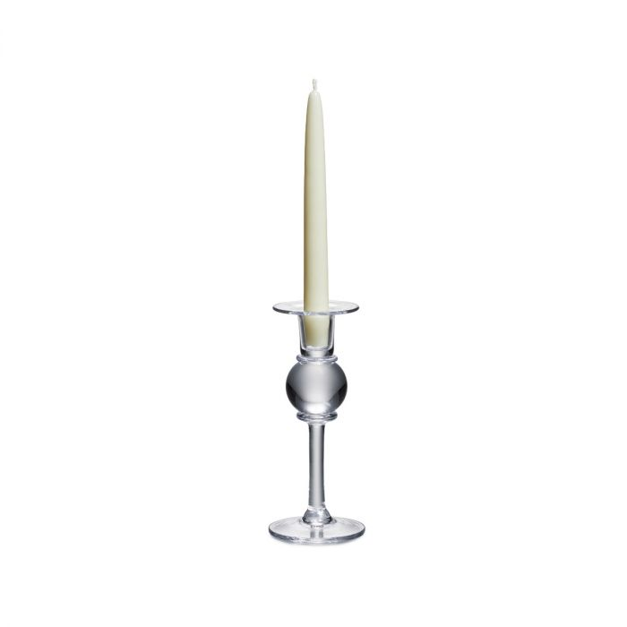 "SIMON PEARCE SMALL 8"" CANDLESTICK WITH CANDLE"