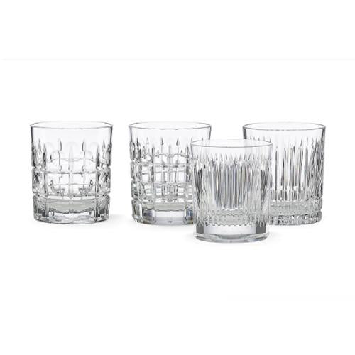 REED & BARTON NEW VINTAGE DOUBLE OLD FASHIONED, SET OF 4