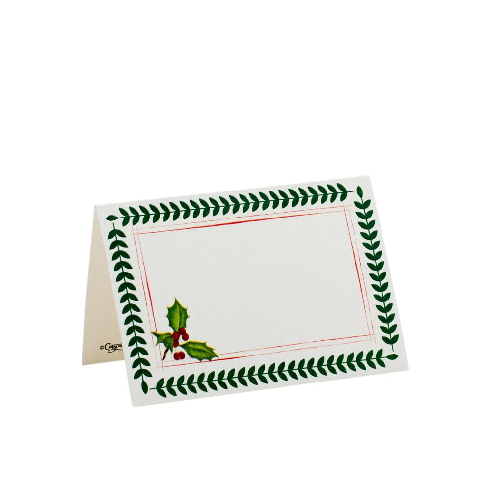 CASPARI YULETIDE CHEER PLACE CARDS, SET OF 8