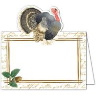 CASPARI FOUNDERS THANKSGIVING PLACE CARDS, SET OF 8