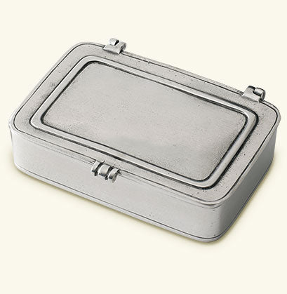 MATCH PEWTER LIDDED BOX, SMALL