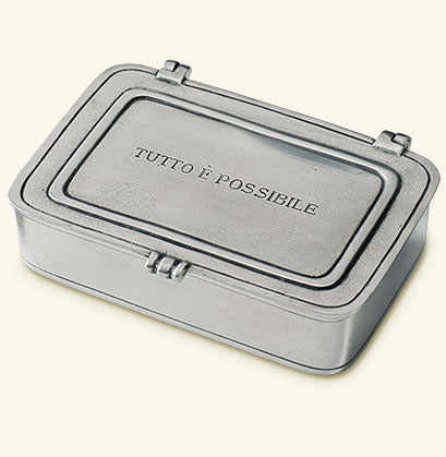 "MATCH PEWTER ""TUTTO E POSSIBLE"" LARGE BOX"